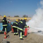 مانور های آمادگی عملیات اتفای حریق در کارگاه ها