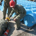 مانور های آمادگی عملیات امداد در کارگاه ها